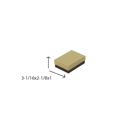 Divine Jewelry Boxes-#32 - 3-1/16 x 2-1/8 x 1 - Pack 100-Divine Kraft w/ Black Base