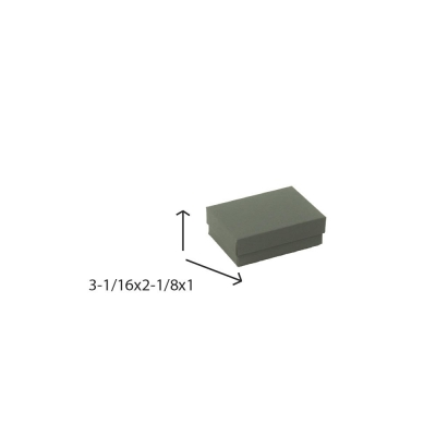 Divine Jewelry Boxes-#32 - 3-1/16 x 2-1/8 x 1 - Pack 100-Divine Slate Gray