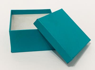 Jewelry Boxes-#34 - 3-1/2 x 3-1/2 x 2 - Pack 100-Aqua