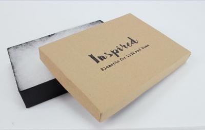 Divine Jewelry Boxes-#53 - 5-1/4 x 3-3/4 x 7/8 - Pack 100-Divine Kraft w/ Black Base
