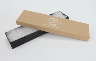 Divine Jewelry Boxes-#82A - 8 x 2 x 7/8 - Pack 100-Divine Kraft w/ Black Base