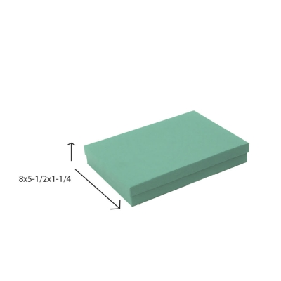 Divine Jewelry Boxes-#85 - 8 x 5-1/2 x 1-1/4 - Pack 50-Divine Aqua