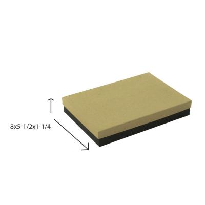 Jewelry Boxes-Divine Kraft w/ Black Base-#85 - 8 x 5-1/2 x 1-1/4 - Pack 50