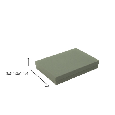 Divine Jewelry Boxes-#85 - 8 x 5-1/2 x 1-1/4 - Pack 50-Divine Slate Gray