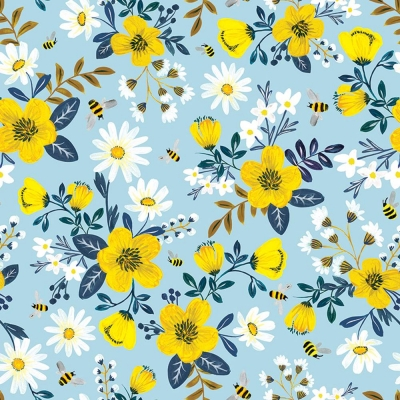 Bumble and Daisy Gift Wrap 30 x 833
