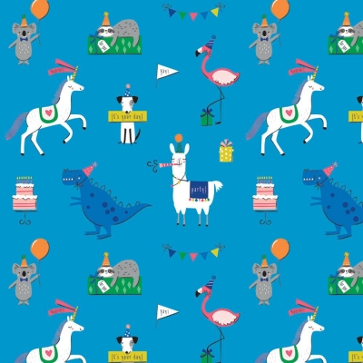 Party Animals Gift Wrap 30 x 833