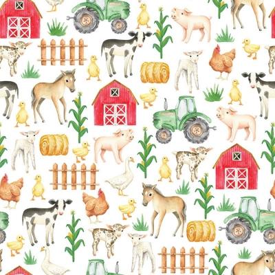 On The Farm Gift Wrap 30 x 833
