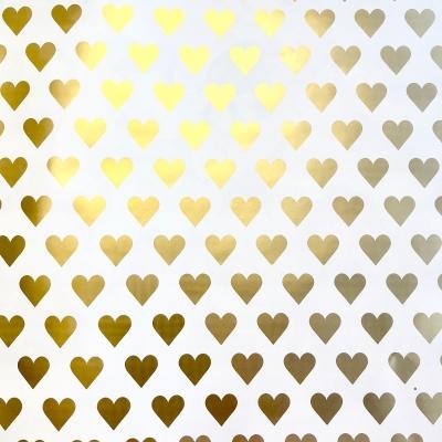"Golden Hearts Gift Wrap 30"" x 833'"
