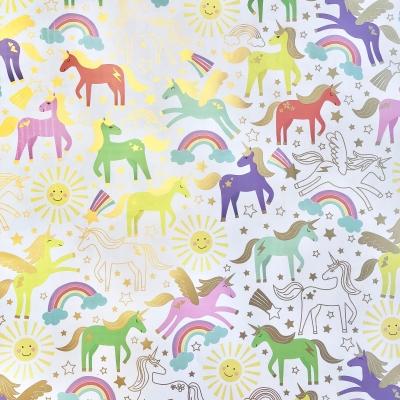 "Unicorn Gift Wrap 30"" x 833'"