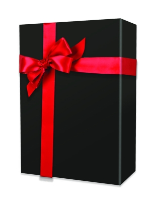 Black Matte Gift Wrap 24 x 417