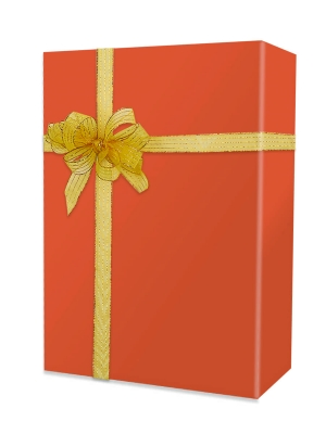 Burnt Orange Matte Gift Wrap 24 x 833