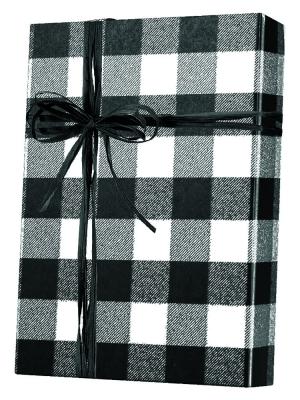 Buffalo Plaid Black Gift Wrap 24 x 833