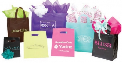 Color Frosty Plastic Shopping Bags