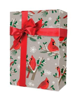 Christmas Cardinals Gift Wrap 24 x 417