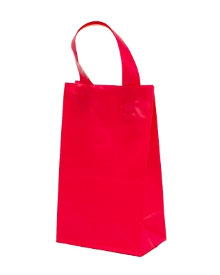 Frosted Tint Shopping Bags-5 x 3 x 8-Cerise