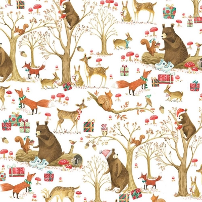 """Christmas Forest Tissue Paper 20"""" x 30"""""""