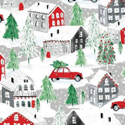 """Christmas Town Tissue Paper 20"""" x 30"""""""