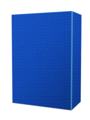 Classic Blue Swiss Dot Gift Wrap 24 x 417