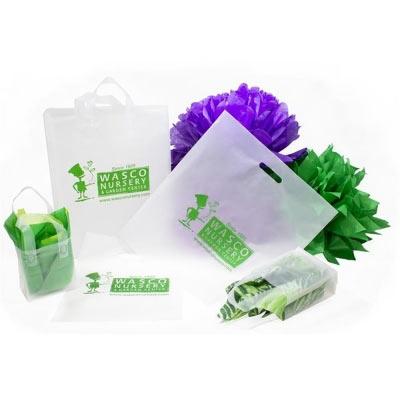 Clear Frosty Plastic Merchandise Bags