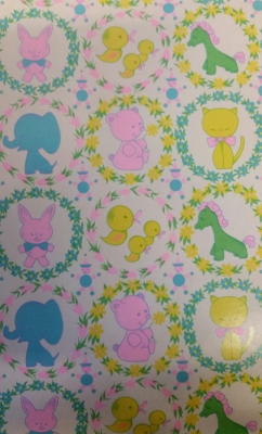 "Baby Animals Gift Wrap 18"" x 833'"