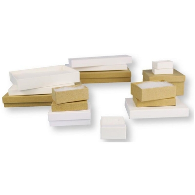 Divine Jewelry Boxes White and Kraft