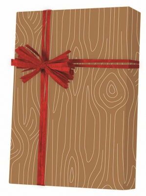 Woodgrain Gift Wrap 24 x 417