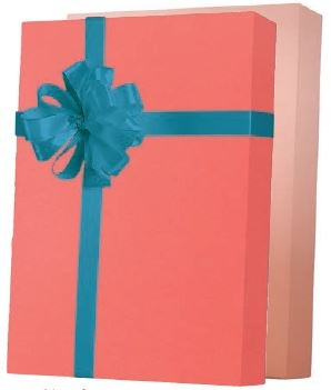Living Coral Gift Wrap 24 x 833