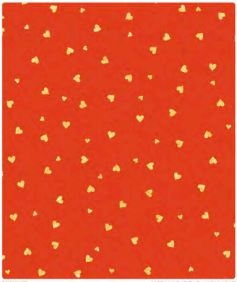 Gold Red Hearts Gift Wrap 30 x 833