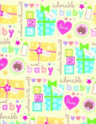 "Sweet Baby Gift Wrap 30"" x 417'"