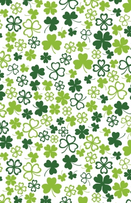 """Hearts of Clover Gift Wrap 24"""" x 417'"""