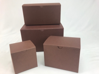 Color Gift Boxes-Cocoa-6x4x4 Pack 100