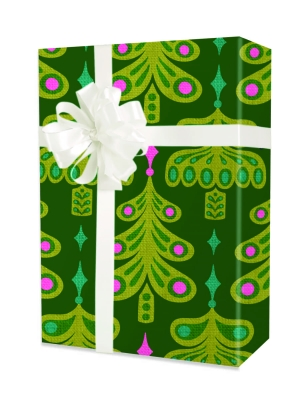 Jeweled Trees Gift Wrap 24 x 833