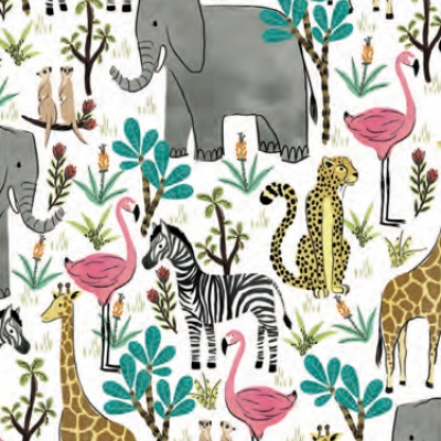 "Jungle Safari Gift Wrap 30"" x 833'"