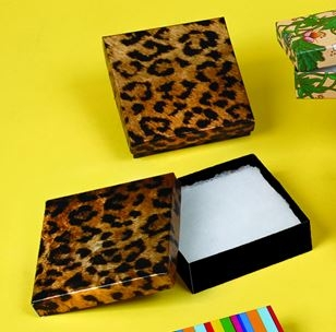 Jewelry Boxes-Leopard-#65 - 6 x 5 x 1 - Pack 50