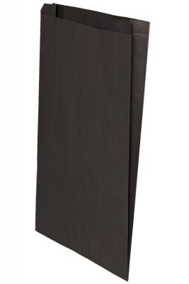 Color Paper Merchandise Bags-12 x 2-3/4 x 18 - Pack 500-Black