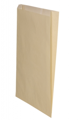 Color Paper Merchandise Bags-12 x 2-3/4 x 18 - Pack 500-Cream