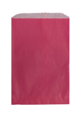 Color Paper Merchandise Bags-6-1/4 x 9-1/4 - Pack 1000-Wild Rose