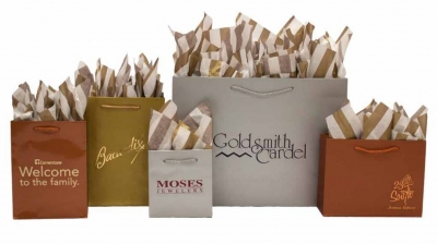 Eurotote Metallic Paper Shopping Bags