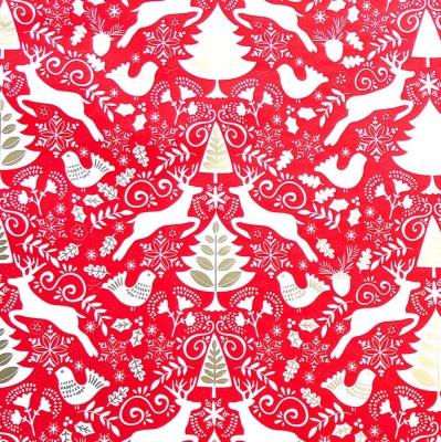 "Red Scandinavian Tissue Paper 20"" x 30"""