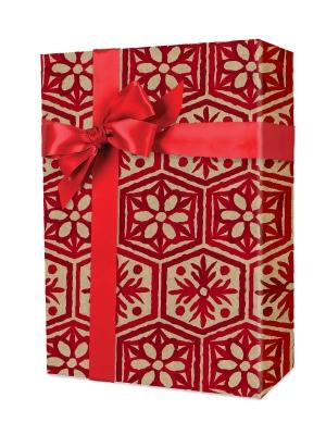 Snowflake Stencil Gift Wrap 24 x 417