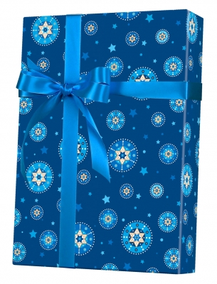 Starry Chanukah and Blue Gift Wrap 24 x 417