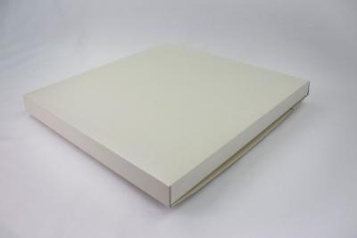 8 x 8 x 1/4 White Gloss Folding Box - Pack 100