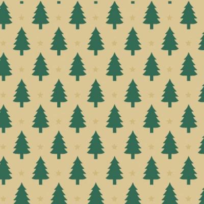 Little Trees on Kraft Gift Wrap 36 x 417