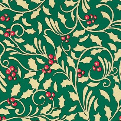 Golden Holly Gift Wrap 36 x 417