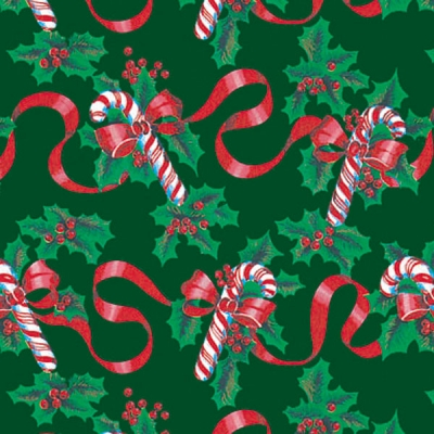 Ribbons and Canes Gift Wrap 36 x 417