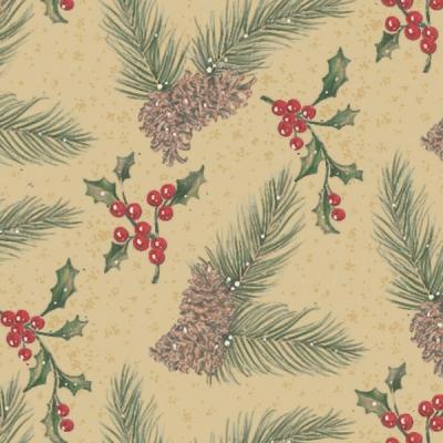 Pine on Kraft Gift Wrap 36 x 417
