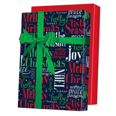 Tis the Season Reversible Gift Wrap 24 x 833