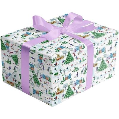 Christmas Village Gift Wrap 30 x 417