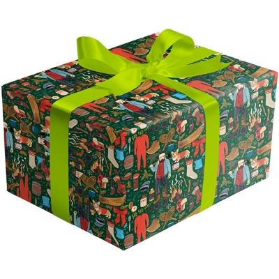 Winter Lumberjack Gift Wrap 30 x 417