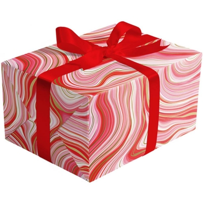 Marbleized Red Gift Wrap 30 x 417